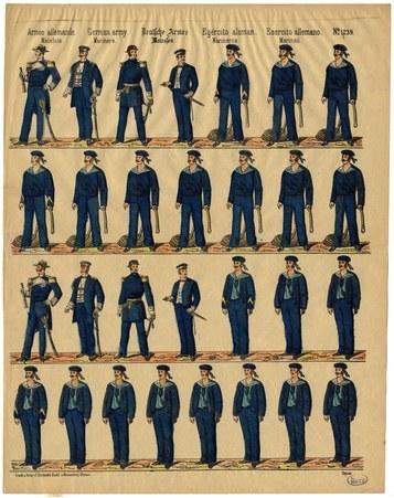 Armée allemande. Matelots – German army. Mariners – Deutsche Armee. Matros…