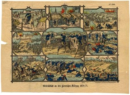 Gedenkblatt an den glorreichen Feldzug 1870/71