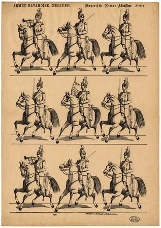 Armée bavaroise. Cuirassiers – Bayerische Armee. Kürassiere