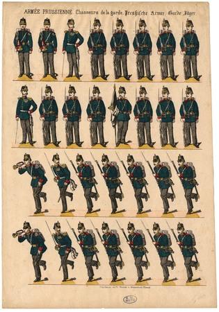 Armée prussienne. Chasseurs de la garde – Preussische Armee. Garde Jäger