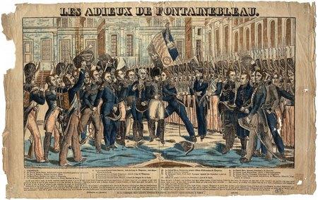 Les adieux de Fontainebleau