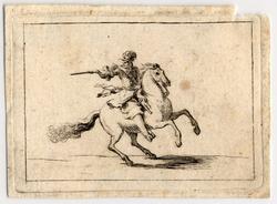 Un général sur un cheval au galop