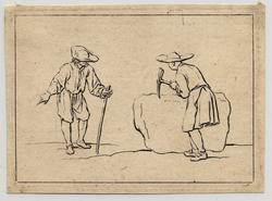 Divers Desseins de Figures dédiés à Monsieur Colbert d'Ormoy: un homme, b…