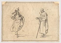 Divers Desseins de Figures dédiés à Monsieur Colbert d'Ormoy: un aveugle …