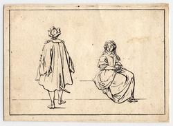 Divers Desseins de Figures dédiés à Monsieur Colbert d'Ormoy: une femme a…