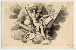 Ode à Mr Lebrun: Cul-de-lampe représentant le génie de la Peinture