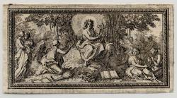 Panegyrique du Roy: Apollon jouant de la lyre sur le Parnasse