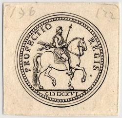 Médaille représentant le roi sur un cheval