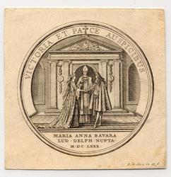 Médaille représentant le mariage du Dauphin