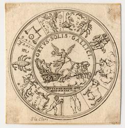 Médaille représentant la carte du ciel au moment de la naissance de Louis …
