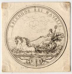 Médaille représentant la Marine florissante