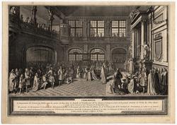 Cérémonie. Louis XIV reçoit le serment du marquis de Dangeau