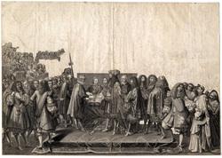 Renouvellement d'alliance entre la France et les Suisses, fait dans l'Égli…