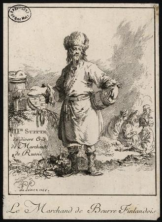 IIIe Suitte de divers Cris de Marchands de Russie – Le Marchand de Beurre …
