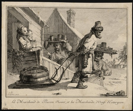 Le Marchand de Poisson Vivant, et les Marchands d'Œufs d'Esturgeon