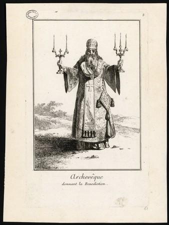 Archevêque donnant la Benediction