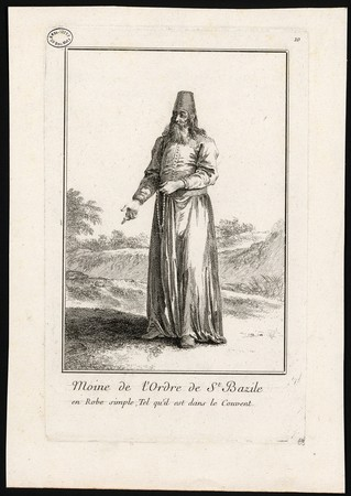 Moine de l'Ordre de St Bazile en Robe simple, Tel qu'il est dans le Couvent