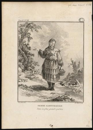 Femme Kamtchadale dans sa plus grande parûre