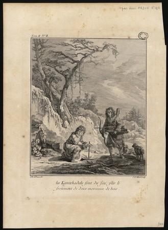 Les Kamtchadals font du feu, par le frotement de deux morceaux de bois