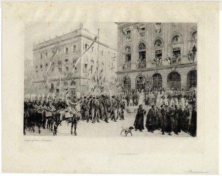 Défilé des populations lorraines devant l'impératrice et le prince impéria…