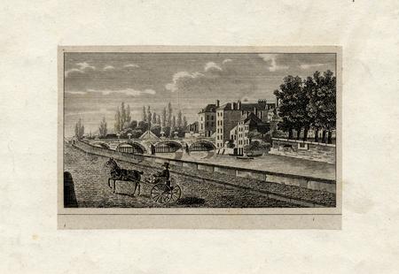 Vue de Metz sur le Moyen-pont