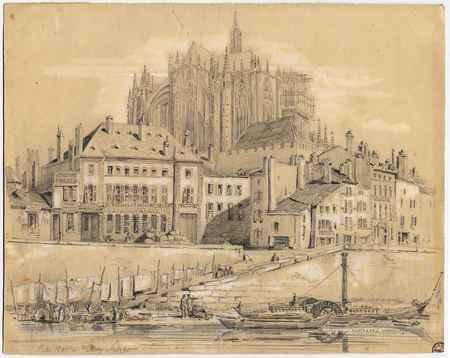 La Cathédrale de Metz depuis le jardin Fabert