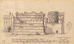 Murs d'admirables structures étant près [de] la Trinité à Metz