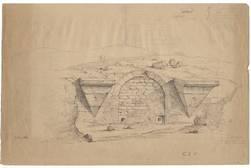 Porte St-Anglemur située au bas du jardin de Boufflers appelé alors la mon…