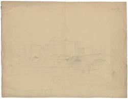 Pont St-Georges - Une maison démolie en 1875