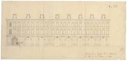 Elévation d'une façade d'un bâtiment à côté de la Comédie à Metz