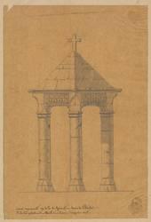 Vieux monument au-delà de Grimont - chemin de Ste Barbe