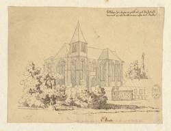 Ancienne église de Ste-Barbe démolie par […] Derobe fils
