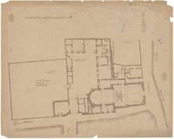 Plan de la maison et de l'Eglise des Trinitaires