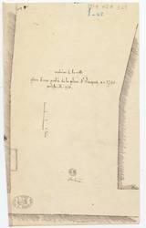 Archives de la ville - plan d'une partie de la place St Jacques, en 1730 p…