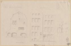 [Façades de la rue du Pont du Saulcy, des Juifs et quai des Juifs en 1791 …