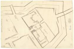 Plan de la porte du pont des Morts