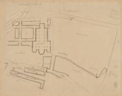 Plan de l'Eglise et de l'abbaye de St-Vincent