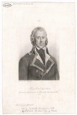 Houchard (Jean-Nicolas) : général en chef des armées du Rhin, de la Mosell…