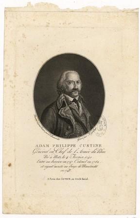 Adam Philippe Custine : général en chef de l'armée du Rhin