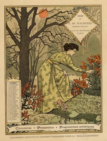 Calendrier de 1896 de La Belle Jardinière. Les Mois: Novembre