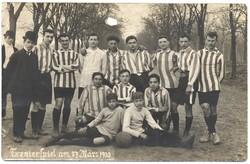 Trenierspiel am 27 März 1910