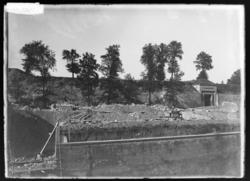 Démolitions des remparts autour de la Citadelle