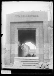 Démolitions de la porte de la Citadelle