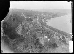 Sierck-les-bains, vue des remparts du château