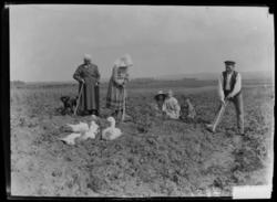 Scène de vie paysanne