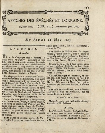 Affiches des Evêchés et Lorraine