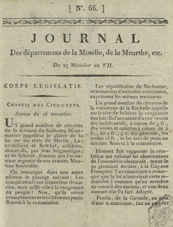Journal des Départements de la Moselle, de la Meurthe, de la Meuse, des Ar…