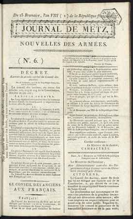 Journal de Metz: nouvelles des armées