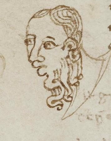 Tête d'homme portant une barbe