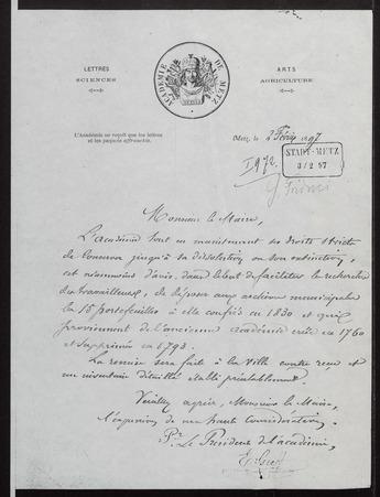 Archives de l'Académie nationale de Metz. Volume 3: Institution, conditio…